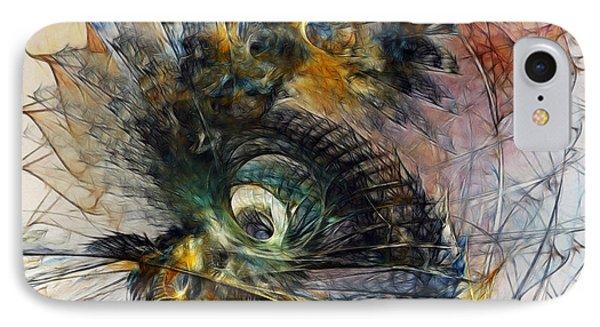 Peacock Fan IPhone Case by Karin Kuhlmann