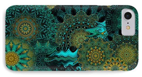 IPhone Case featuring the digital art Peacock Fantasia by Charmaine Zoe