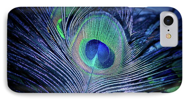 IPhone Case featuring the photograph Peacock Feather Blush by Sharon Mau