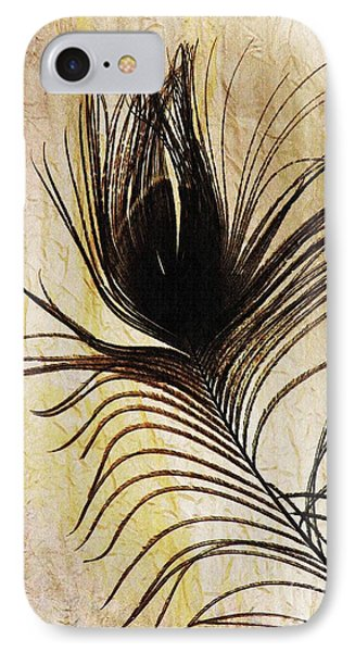 Peacock Feather Silhouette Phone Case by Sarah Loft