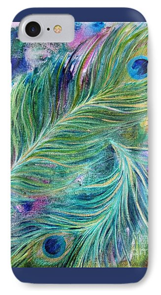 Peacock Feathers Bright IPhone Case by Denise Hoag