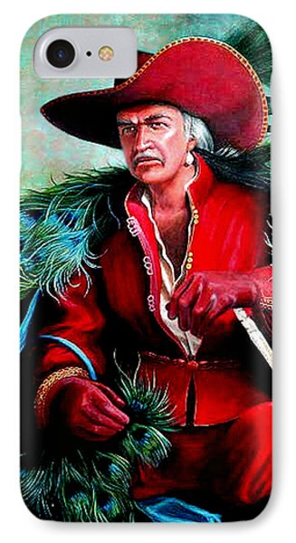 IPhone Case featuring the painting Peacock Feathers Connery by Loxi Sibley