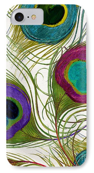 Peacock Feathers IPhone Case by Mindy Sommers