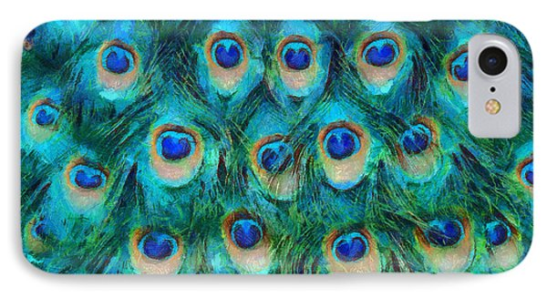 Peacock Feathers Phone Case by Nikki Marie Smith