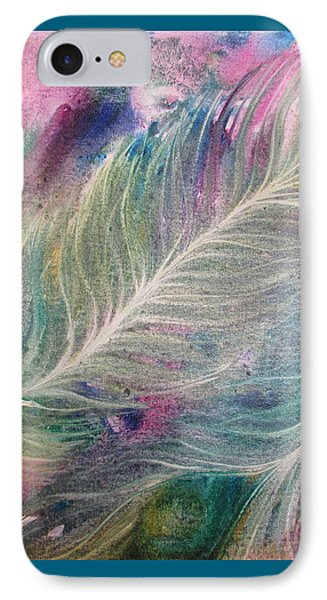 Peacock Feathers Pastel IPhone Case by Denise Hoag