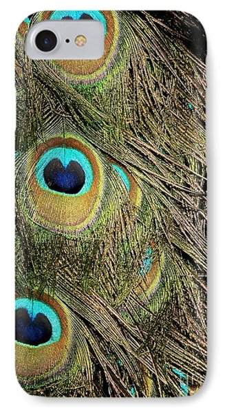 Peacock Feathers Phone Case by Sabrina L Ryan
