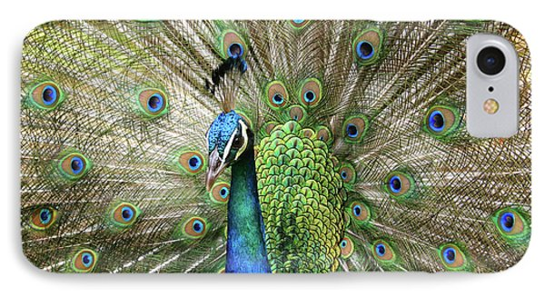 Peacock Indian Blue Phone Case by Sharon Mau
