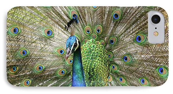 Peacock Indian Blue IPhone Case