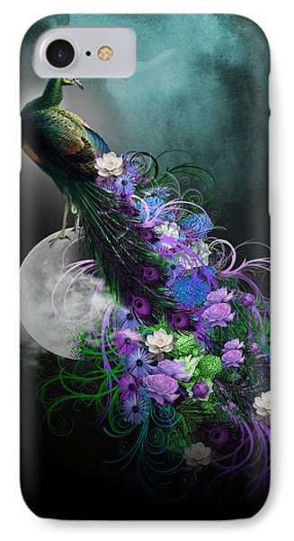 Peacock Of  Flowers IPhone Case