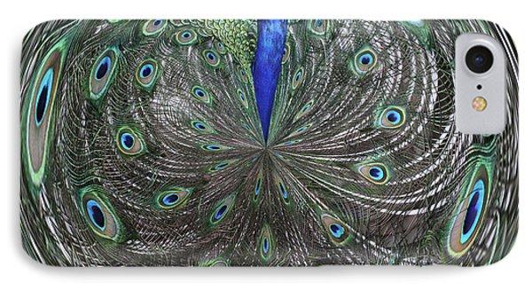 Peacock Swirl #2 IPhone Case