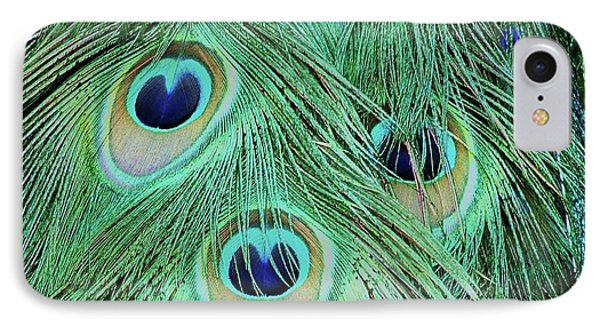 Peacock Tail IPhone Case by Martina Fagan