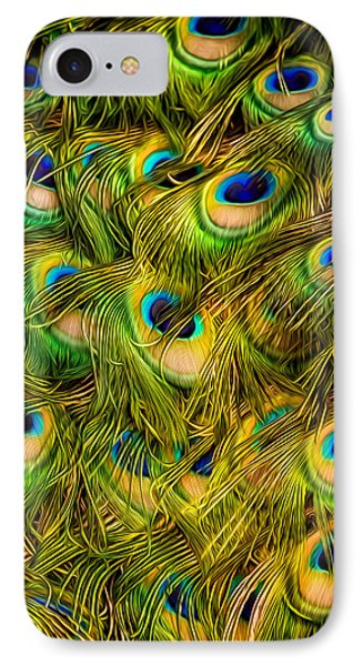 IPhone Case featuring the photograph Peacock Tails by Rikk Flohr