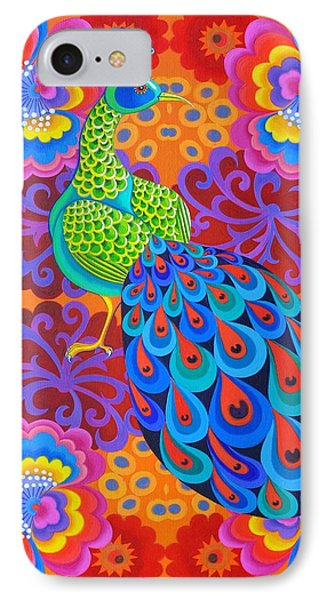Peacock With Flowers IPhone Case