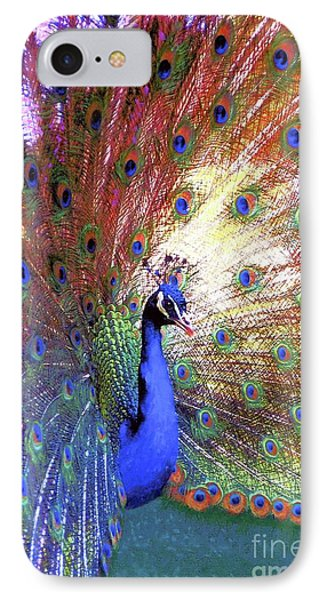 Peacock Wonder, Colorful Art IPhone Case