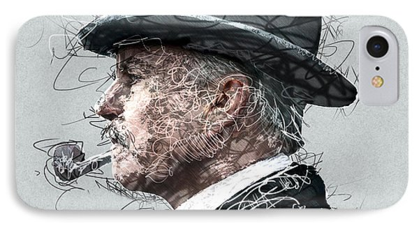 Peaky Blinders Scribble IPhone Case by Jean Moore
