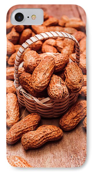 Peanuts In Tiny Basket In Close-up IPhone Case by Jorgo Photography - Wall Art Gallery