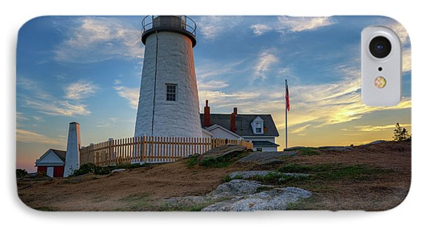 Pemaquid Point Lighthouse At Sunset IPhone Case