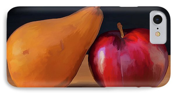 Pear And Plum 01 IPhone Case by Wally Hampton