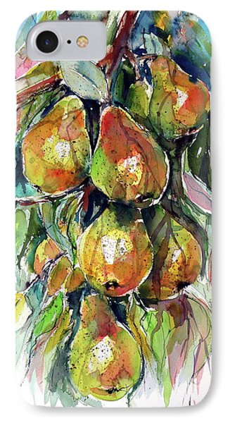 IPhone Case featuring the painting Pear by Kovacs Anna Brigitta