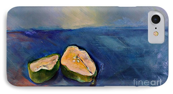 IPhone Case featuring the painting Pear Split by Daun Soden-Greene