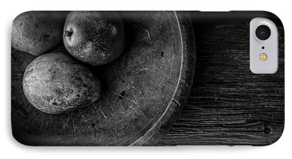 Pear Still Life In Black And White IPhone Case by Edward Fielding