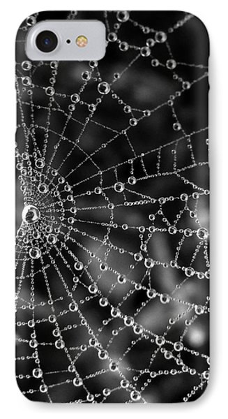 Pearls In Black And White IPhone Case by Misha Bean