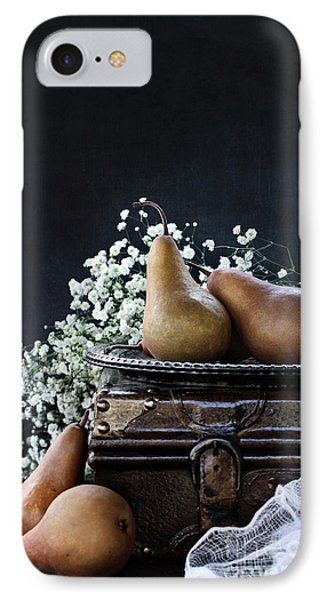 IPhone Case featuring the photograph Pears And Baby's Breath by Stephanie Frey