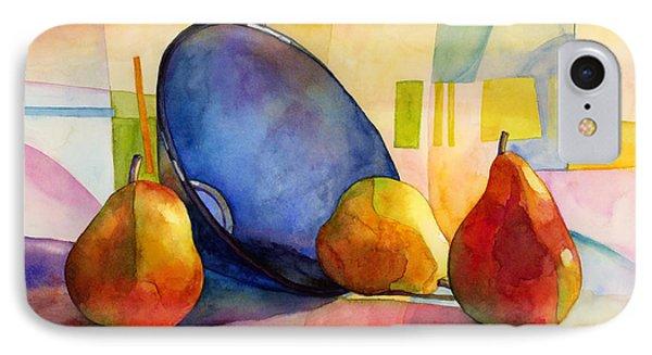 Pears And Blue Bowl IPhone Case by Hailey E Herrera