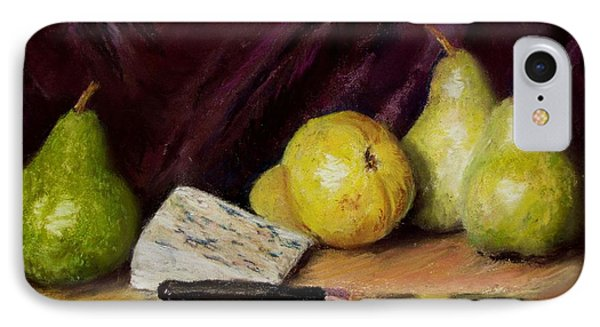 IPhone Case featuring the pastel Pears And Cheese by Jack Skinner
