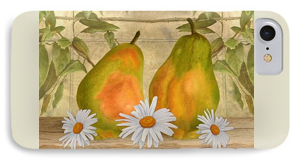 Pears And Daisies IPhone Case
