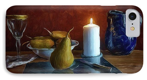 IPhone Case featuring the photograph Pears By Candlelight by Mark Fuller