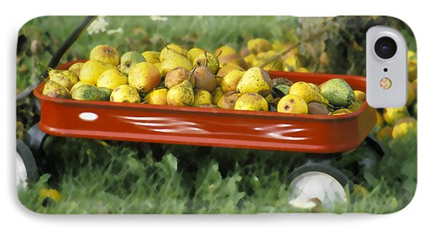 Pears In A Wagon IPhone Case by Gordon Wood