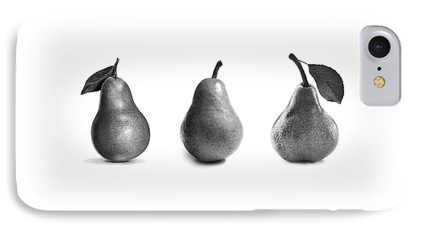 Pears In Black And White IPhone Case by Mark Rogan