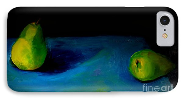 IPhone Case featuring the painting Pears Unpaired by Daun Soden-Greene