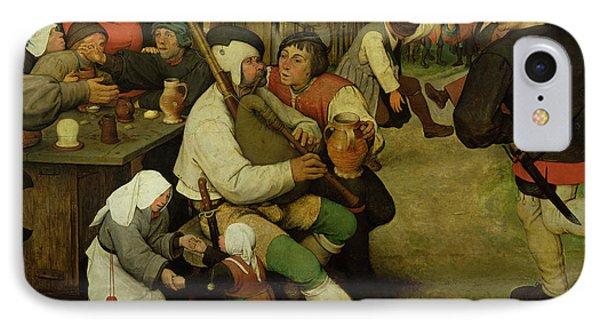 Peasant Dance Phone Case by Pieter the Elder Bruegel