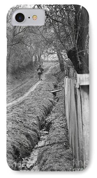 Peasant Man On A Muddy Road Phone Case by Gabriela Insuratelu