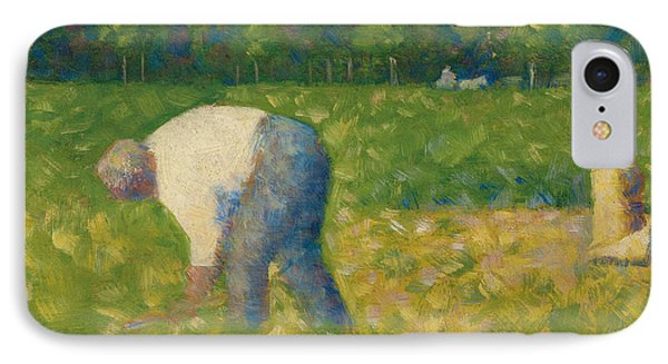 Peasant Working IPhone Case by Georges Pierre Seurat
