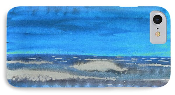 IPhone Case featuring the painting Peau De Mer by Marc Philippe Joly