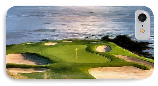 Pebble Beach No.7 IPhone Case by Scott Melby