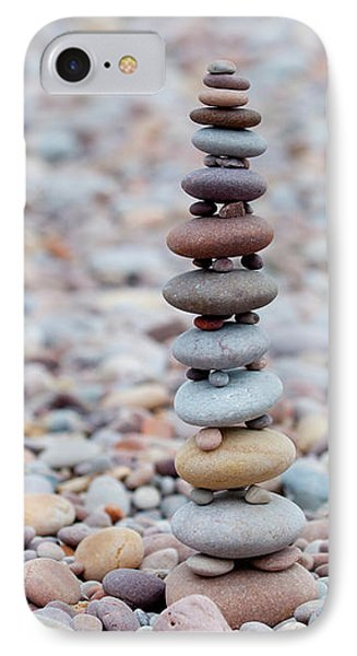 Pebble Stack II IPhone Case by Helen Northcott