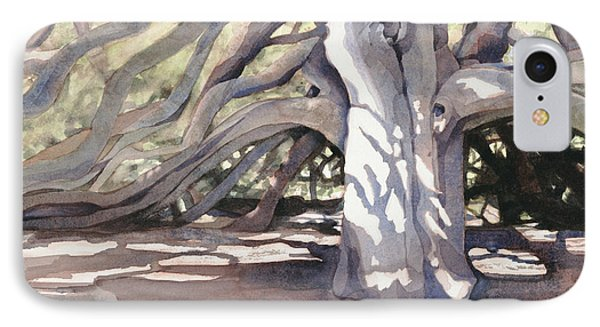 IPhone Case featuring the painting Pechanga Great Oak by Bonnie Rinier