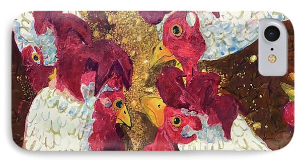 Pecking Order IPhone Case by Jame Hayes