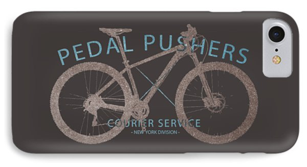 Pedal Pushers Courier Service Bike Tee IPhone Case by Edward Fielding