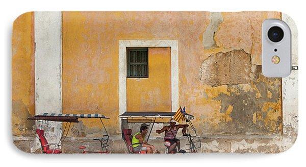 IPhone Case featuring the photograph Pedicabs At Convento De Santa Clara Havana Cuba by Charles Harden