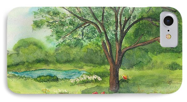 IPhone Case featuring the painting Pedro's Tree by Vicki  Housel
