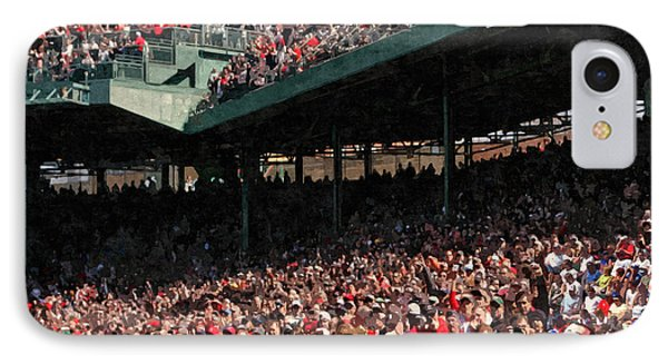 Pee Wee Does The Fenway IPhone Case by George Curcio