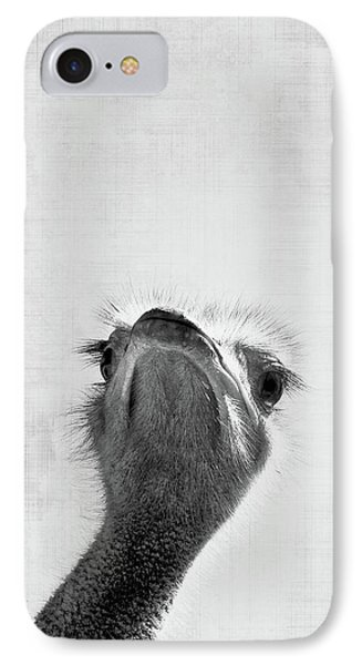Ostrich iPhone 7 Case - Peekaboo Ostrich by Delphimages Photo Creations