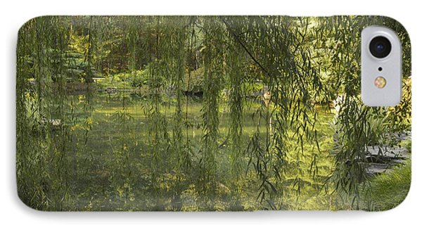 Peeking Through The Willows Phone Case by Linda Geiger