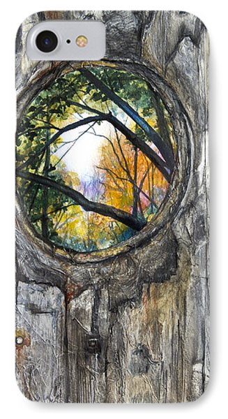Peeky Hole Through The Fence II IPhone Case by Patricia Allingham Carlson