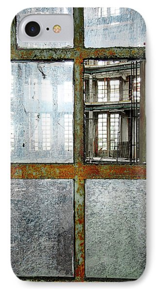 IPhone Case featuring the photograph Peeping Inside Factory Hall - Urban Decay by Dirk Ercken